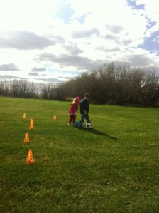 Keeping active practicing soccer drills