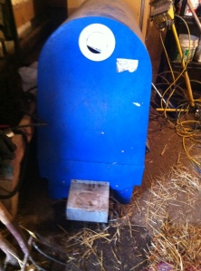 Baby Calf Incubator. It has a heater, fan and vents to warm up a calf quickly so he can be reunited with mama ASAP.