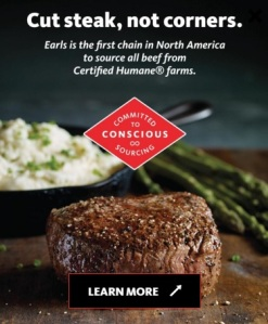 Earls cut steak